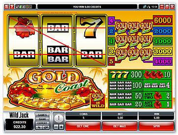 online slot machine betting